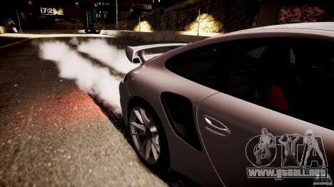 Porsche 911 GT2 RS 2012 para GTA 4 Vista posterior izquierda