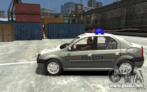 Dacia Logan Prestige Politie para GTA 4 left