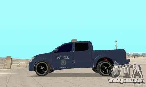 Toyota Hilux Somaliland Police para la visión correcta GTA San Andreas
