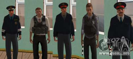 Skin Pack de los asuntos internos rusos para GTA San Andreas