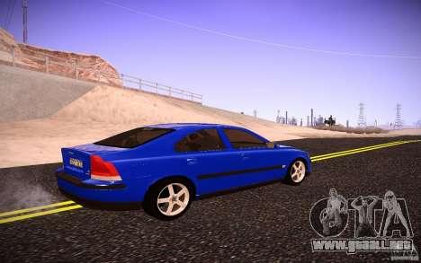 Volvo S 60R para GTA San Andreas vista posterior izquierda