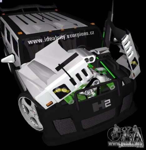 AMG Hummer H2 Hard Tuning v2 para GTA Vice City vista lateral izquierdo