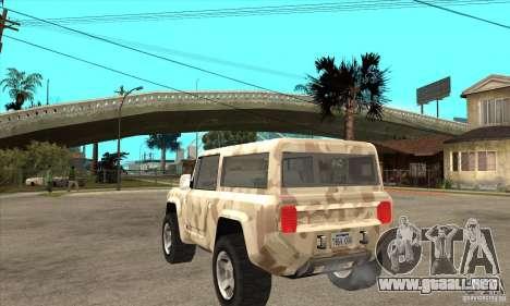 Ford Bronco Concept para GTA San Andreas vista posterior izquierda