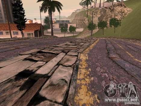 Nuevos caminos en Vajnvude para GTA San Andreas sucesivamente de pantalla