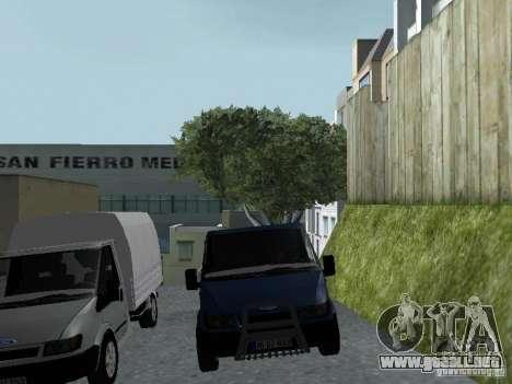 Ford Transit 2005 para visión interna GTA San Andreas