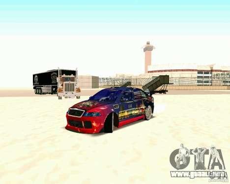 Skoda Octavia III Tuning para GTA San Andreas vista posterior izquierda