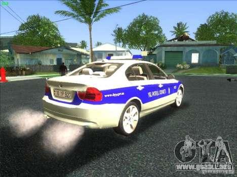 BMW 330i YPX para GTA San Andreas vista hacia atrás
