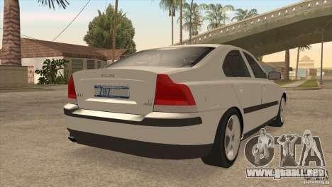 Volvo S60R para vista lateral GTA San Andreas