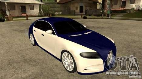 Bugatti Galibier 16c para la visión correcta GTA San Andreas