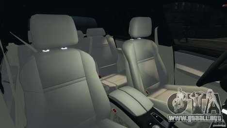BMW X5 xDrive48i Security Plus para GTA 4 vista interior