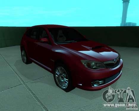 Subaru Impreza WRX STI Stock para GTA San Andreas