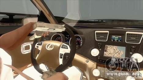 Lexus RX350 para visión interna GTA San Andreas