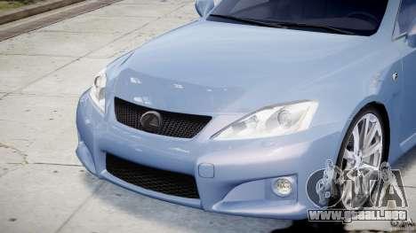 Lexus IS F para GTA 4 interior