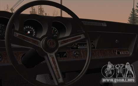 Oldsmobile Hurst/Olds 455 Holiday Coupe 1969 para visión interna GTA San Andreas
