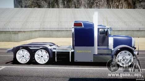 Peterbilt Truck Custom para GTA 4 left