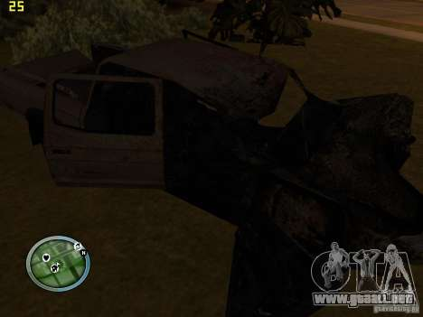 Autos rotas en la calle Grove para GTA San Andreas sucesivamente de pantalla
