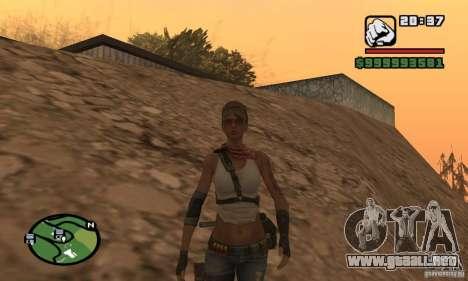 La nueva chica militar para GTA San Andreas segunda pantalla