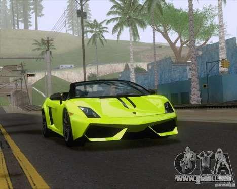 Lamborghini Gallardo LP570-4 Spyder Performante para vista lateral GTA San Andreas