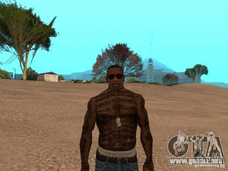 Tattoo Mod by shama123 para GTA San Andreas tercera pantalla