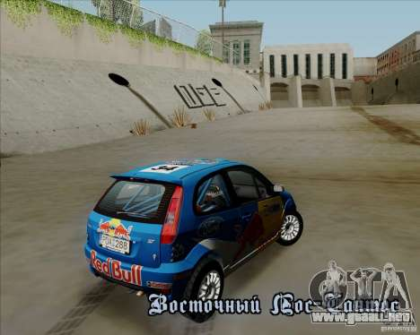 Ford Fiesta ST Rally para visión interna GTA San Andreas