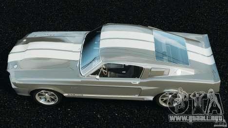 Shelby GT 500 Eleanor v2.0 para GTA 4 visión correcta