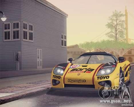 Koenigsegg CCX 2006 v2.0.0 para las ruedas de GTA San Andreas