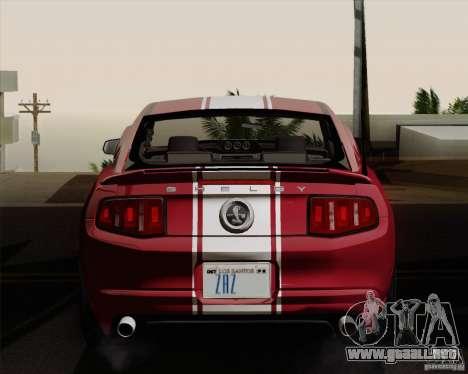 Ford Shelby GT500 Super Snake 2011 para la visión correcta GTA San Andreas
