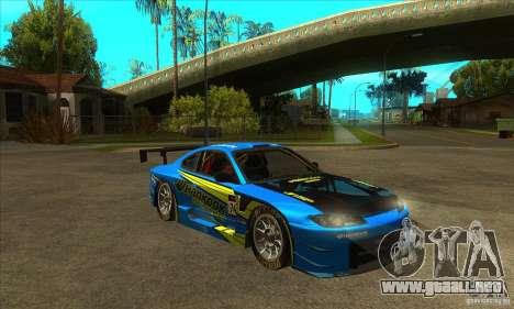 Nissan Silvia S15 - GT para GTA San Andreas vista hacia atrás
