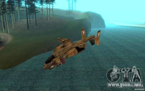 Aire Orca Command and Conquer 3 para GTA San Andreas vista posterior izquierda