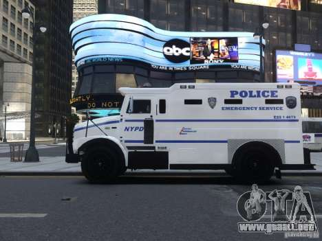 Enforcer Emergency Service NYPD para GTA 4 vista hacia atrás