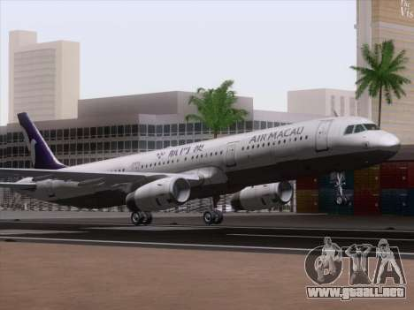 Airbus A321 Air Macau para GTA San Andreas left