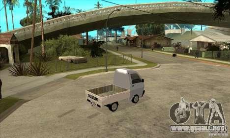 Suzuki Carry Kamyonet para la visión correcta GTA San Andreas