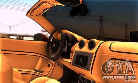 Ferrari California V3 para la vista superior GTA San Andreas
