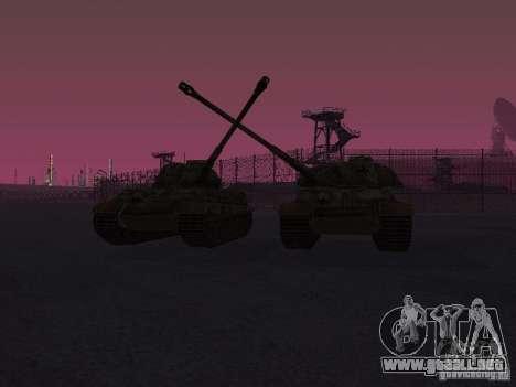 Pzkpfw VII Tiger II para GTA San Andreas vista hacia atrás