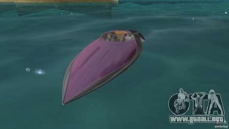Bugatti Sang Bleu Speedboat para GTA Vice City left