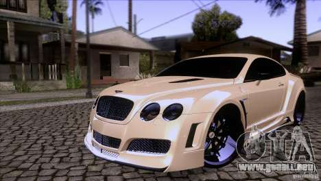 Bentley Continental GT Premier 2008 V2.0 para la vista superior GTA San Andreas