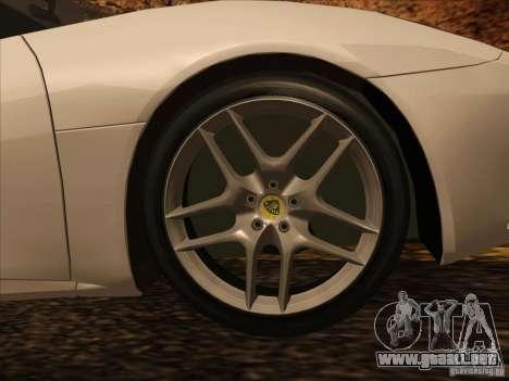Lotus Evora para visión interna GTA San Andreas