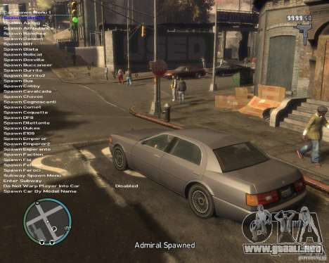 Simple Native Trainer v6.4 para GTA 4 tercera pantalla
