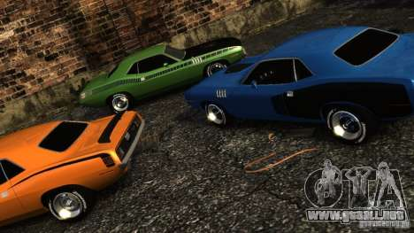 Plymouth Hemi Cuda 1971 para GTA 4 vista interior