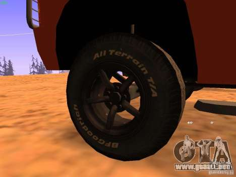 Huntley Superior para GTA San Andreas interior