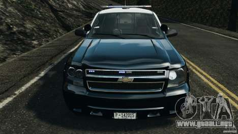 Chevrolet Tahoe Marked Unit [ELS] para GTA 4 vista lateral