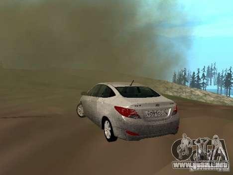 Hyundai Solaris para la visión correcta GTA San Andreas