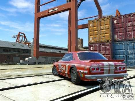 Nissan Skyline 2000 GTR para GTA 4 visión correcta