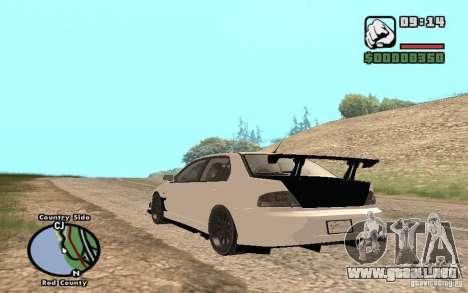 Mitsubishi Lancer Evolution 8 Carbon para la visión correcta GTA San Andreas