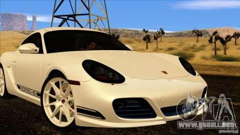 Porsche Cayman R 987 2011 V1.0 para GTA San Andreas left