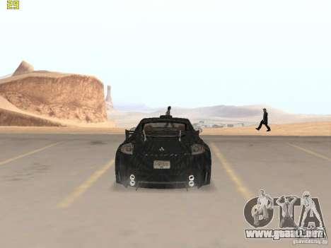 Mitsubishi Eclipse GT NFS-MW para GTA San Andreas vista posterior izquierda