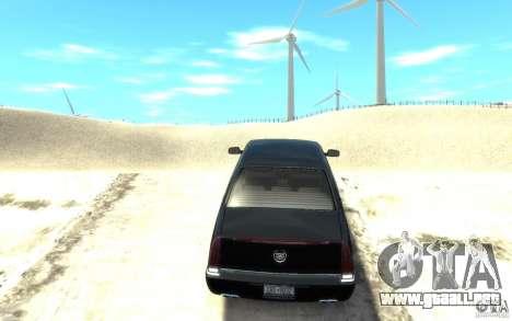 Cadillac DTS v 2.0 para GTA 4 Vista posterior izquierda