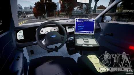 Ford Crown Victoria Croatian Police Unit para GTA 4 vista hacia atrás