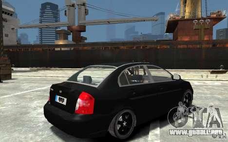 Hyundai Accent 2006 para GTA 4 visión correcta