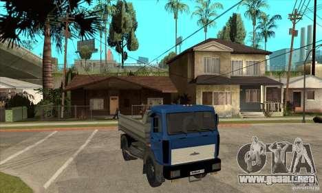 5551 MAZ camión para GTA San Andreas vista hacia atrás